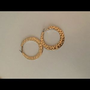 Gold Chunky 60s/70s Inspired Earrings